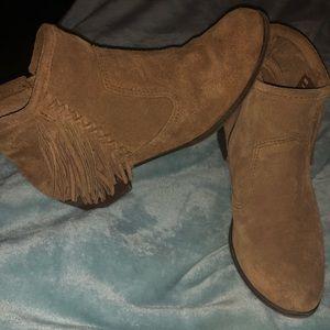 Minnetonka brown booties
